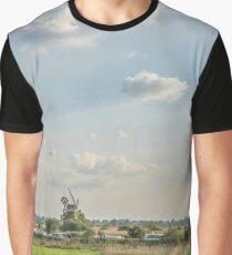 """ Fen Turf Drainage Mill - Panorama "" Graphic T-Shirt"