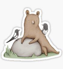 Bear & Birds Sticker
