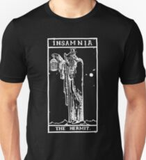 """INSAMNIA's Tarot card """"THE HERMIT"""" logo with all seeing eye T-Shirt"""