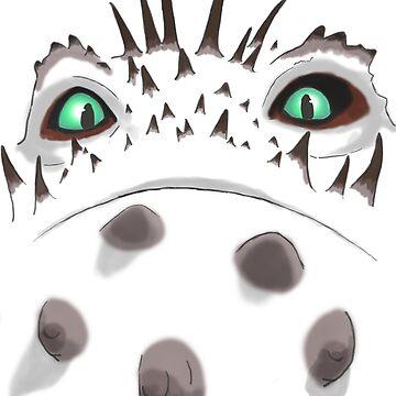 Valka's Bewilderbeast fiery eyes by Astralberry