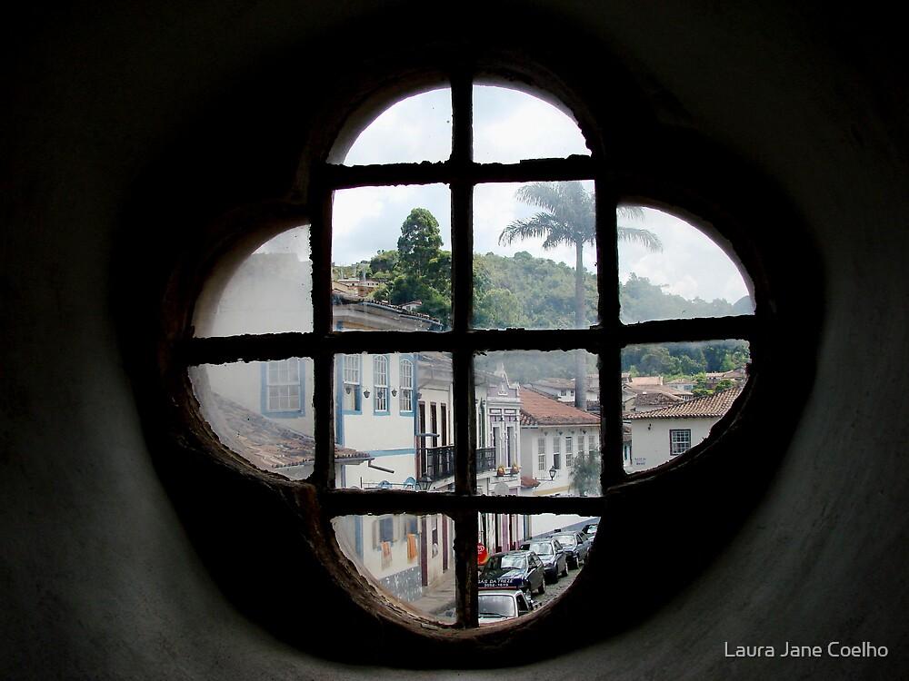 Window at Ouro Preto - Brasil by Laura Jane Coelho