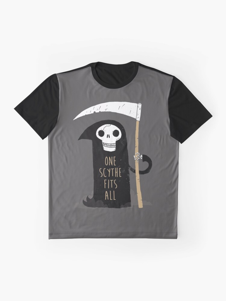 Alternate view of One Scythe Fits All Graphic T-Shirt