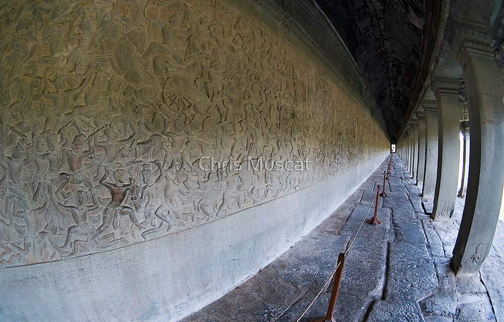Angkor Wat Bas Reliefs by Chris Muscat