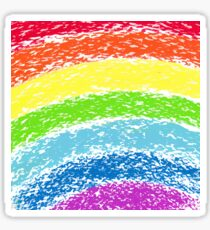Pastel crayon painted rainbow, vector image Sticker