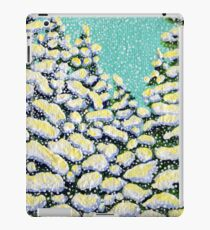 Winter Wonderland Snowing Snow Flurry Pine Trees Forest Storm Powerful Peaceful iPad Case/Skin