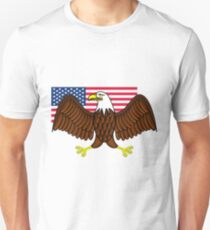 American Bald Eagle and Flag Unisex T-Shirt