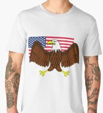 American Bald Eagle and Flag Men's Premium T-Shirt