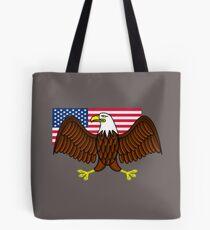 American Bald Eagle and Flag Tote Bag