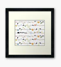 Birds and Flowers Framed Print