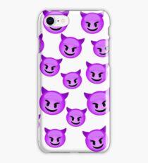 purple devil emoji iPhone Case/Skin