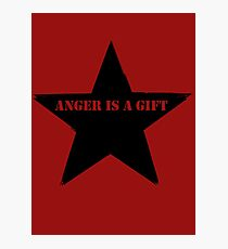 Anger is a gift Photographic Print