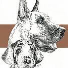 Great Dane (cropped) Father & Son  by BarbBarcikKeith