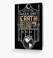 Mumford Typography (earth)(gold) Greeting Card