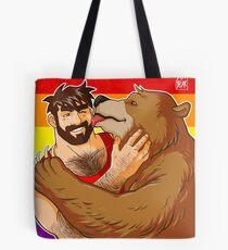 BEAR KISS - GAY PRIDE Tote Bag