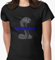 SHELBY MUSTANG LOGO Womens Fitted T-Shirt