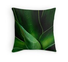 Droplets on the Aloe  Throw Pillow