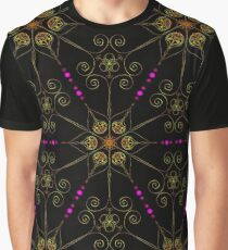 Psychedelic Pattern, Ornament, Mandala, Design, Art, Flower, Fantasy, Magic, Geometry,  Graphic T-Shirt