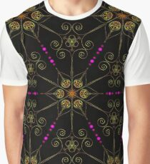 Psychedelic Pattern, Ornament, Mandala, Design, Art, Flower, Fantasy, Magic, Geometry,  Graphic T-Shirt