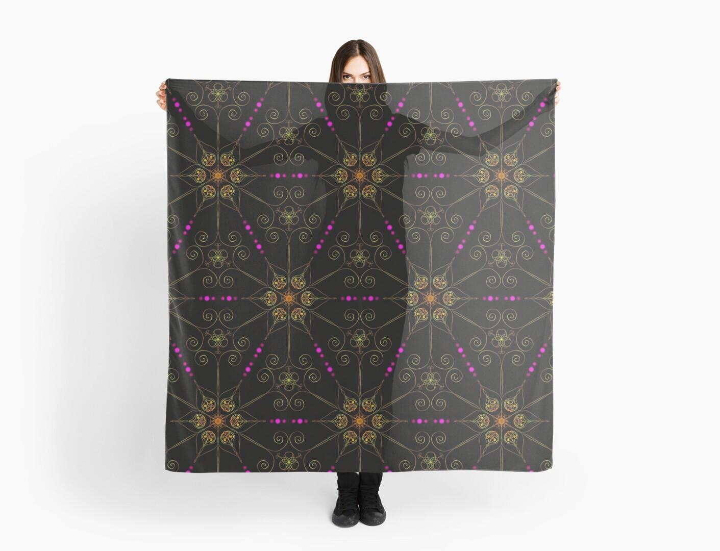 a5085d40c4ea 'Psychedelic Pattern, Ornament, Mandala, Design, Art, Flower, Fantasy,  Magic, Geometry, ' Scarf by lavalova
