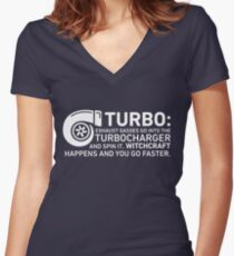 Turbo Witchcraft - Jeremy Clarkson Women's Fitted V-Neck T-Shirt