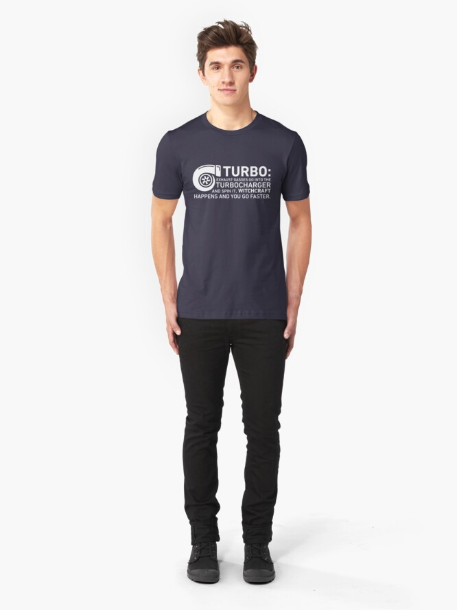 Alternate view of Turbo Witchcraft - Jeremy Clarkson Slim Fit T-Shirt