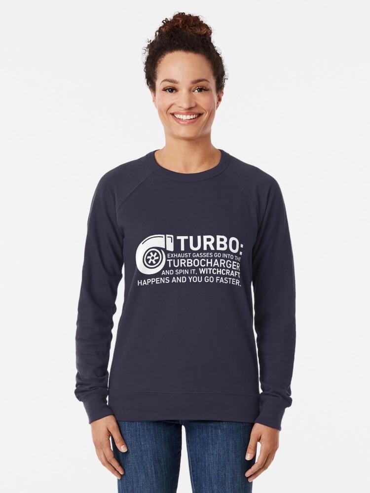 Alternate view of Turbo Witchcraft - Jeremy Clarkson Lightweight Sweatshirt