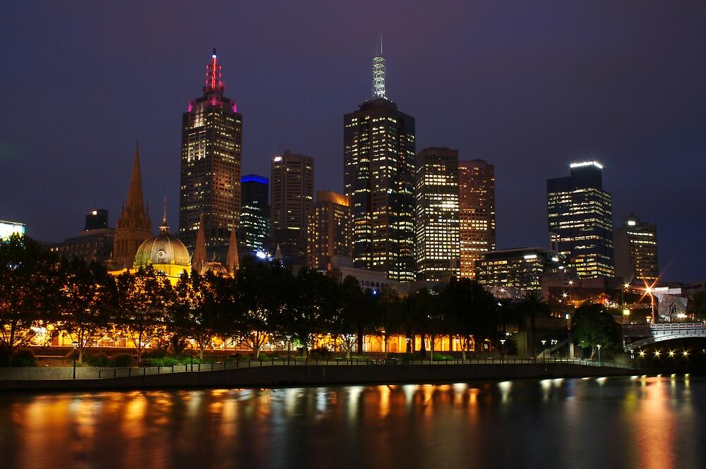 Melbourne night lights by richymac