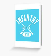 4th ID Military Infantry Design Greeting Card