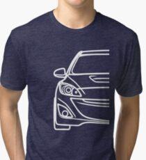 simple line speed 3 - white Tri-blend T-Shirt