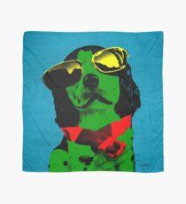 FUNNY DOG! Green Blue Scarf