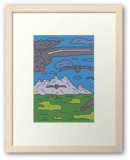 1811 - Birds Before Mountains von tigerthilo