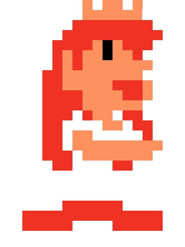 Quot Princess Peach Pixel Quot Stickers By Lachyzee Redbubble