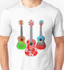 Three Tropical Ukuleles Unisex T-Shirt