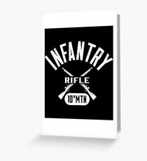 10th MTN Military Infantry Design Greeting Card