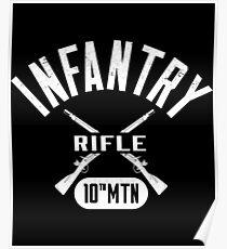 10th MTN Military Infantry Design Poster