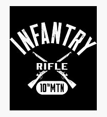 10th MTN Military Infantry Design Photographic Print
