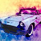 57 Thunderbird Watercolour by ChasSinklier