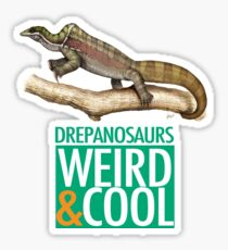 Drepanosaurs are Weird and Cool Sticker