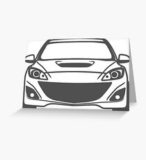simple speed 3 filled Greeting Card