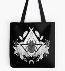 Scarab Queen // Black & White Tote Bag