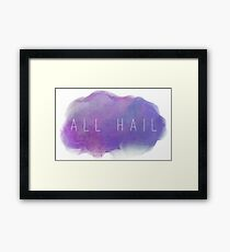 ALL HAIL THE MIGHTY GLOW CLOUD Framed Print