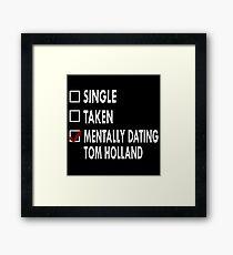 Dating Tom Holland Framed Print