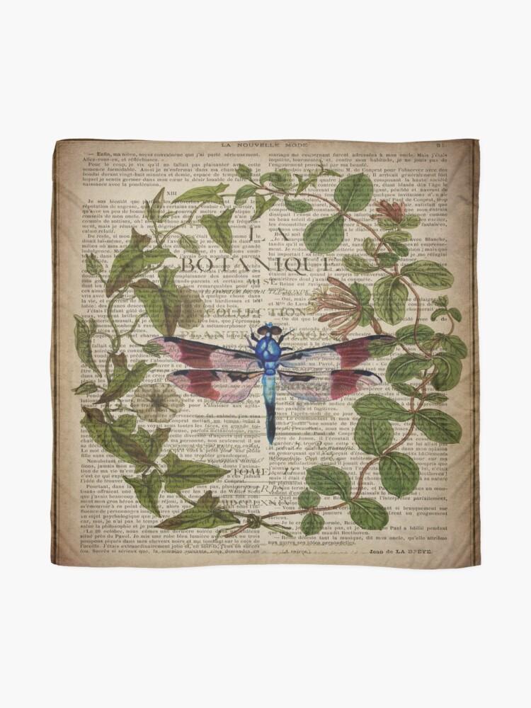Alternative Ansicht von französische Libelle der modernen Blätter botanische Kunstweinlese Tuch