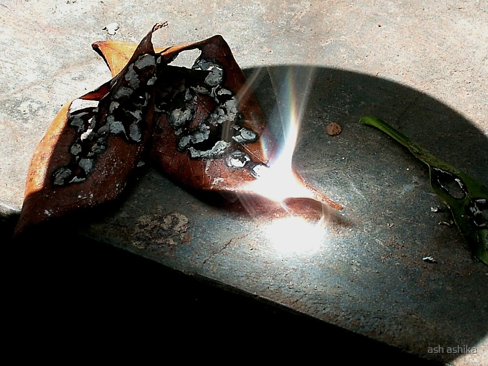 burning leaves... by ash ashika