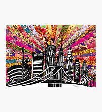 Linocut Blooming New York Photographic Print