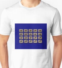 Eadweard Muybridge – 1830-1904 – Locomotion Theory – Horse and Jump – Blue T-Shirt