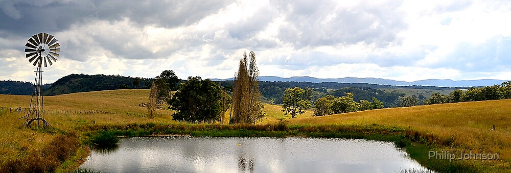 Valley Views- Near Little Hartley - Blue Mountains Series, Sydney Australia by Philip Johnson