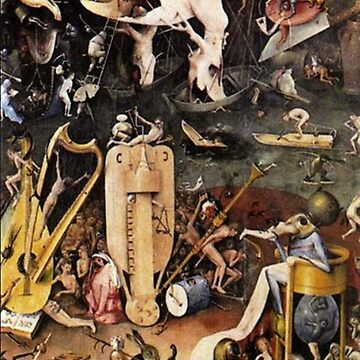 Hieronymus Bosch, The Garden Of Earthly Delights (detail) by TOMSREDBUBBLE