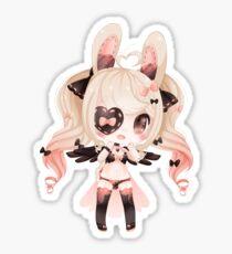 Pretty in pink! Chibi Bunny. Sticker