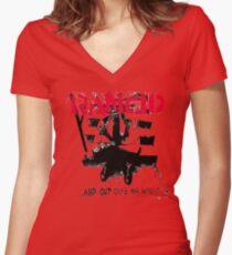 rancid Women's Fitted V-Neck T-Shirt